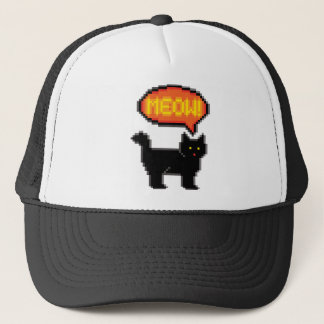 8-Bit Cat Trucker Hat