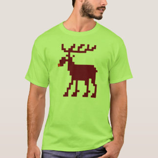 8 Bit Christmas Gamer Moose Shirt
