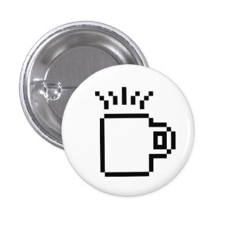 8 Bit Coffee 3 Cm Round Badge