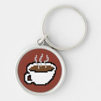 8 Bit Coffee Keychain