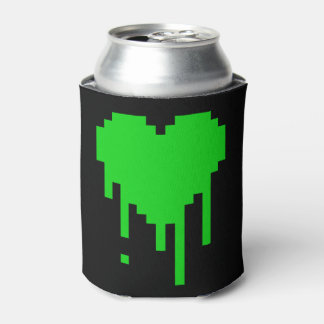 8 Bit Dripping Heart Can Cooler
