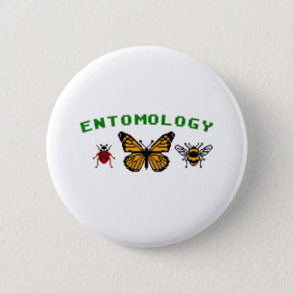 8-Bit Entomology 6 Cm Round Badge