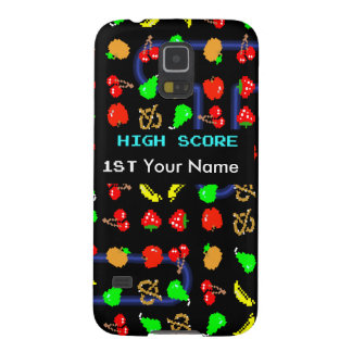 8 Bit Fruit Video Game Galaxy S5 Cases