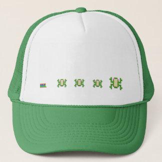 8 bit gamer frog cap