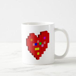 8-Bit Heart Coffee Mug