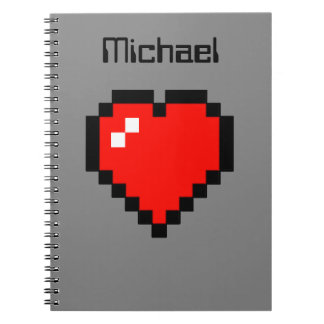 8 - Bit Heart (Full) Notebooks