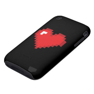 8 Bit Heart iPhone 3 Tough Cover