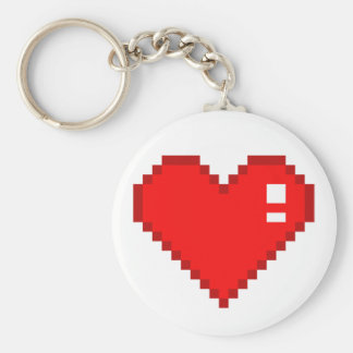 8 Bit Heart Key Ring