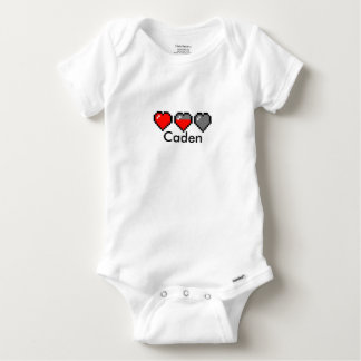 8 BIT HEART Meter Baby Onesie