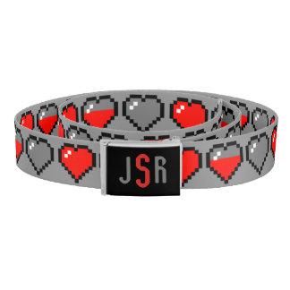 8 Bit Heart - Monogram Belt