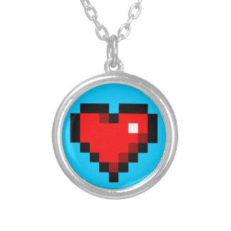 8-bit heart necklace