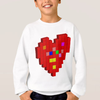 8-Bit Heart Sweatshirt