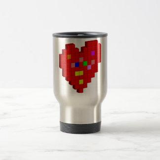 8-Bit Heart Travel Mug