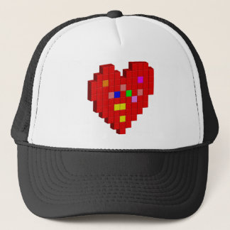 8-Bit Heart Trucker Hat