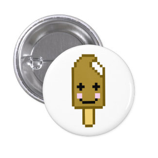 8 Bit Kawaii Ice Cream Bar 3 Cm Round Badge