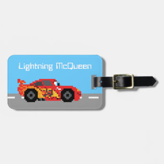 8-Bit Lightning McQueen Luggage Tag