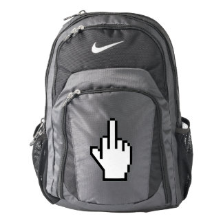 8-Bit Middle Finger Backpack