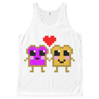 8 Bit Peanut Butter and Jelly All-Over Print Tank Top