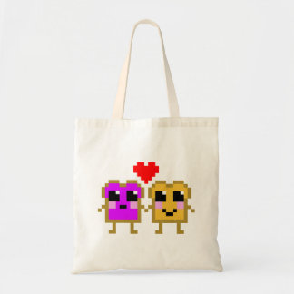 8 Bit Peanut Butter and Jelly Budget Tote Bag