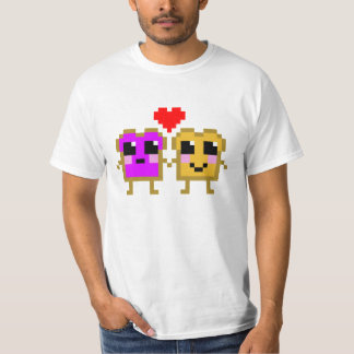 8 Bit Peanut Butter and Jelly T-shirts