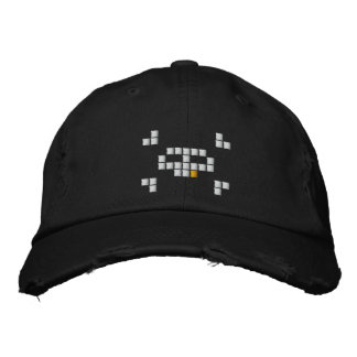 8 Bit Pirate Embroidered Hat