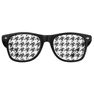 8 Bit Pixel Houndstooth Check Pattern Retro Sunglasses