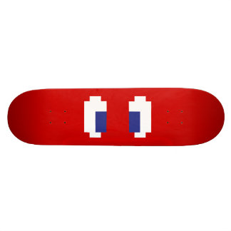 8 Bit Pixel Manga Eyes 21.3 Cm Mini Skateboard Deck