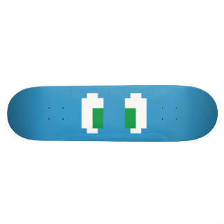 8 Bit Pixel Manga Green Eyes Skate Deck