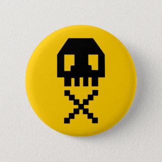 8-bit Pixel Skull 6 Cm Round Badge