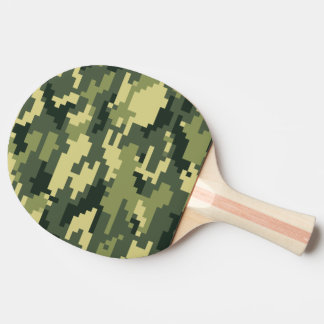 8 Bit Pixel Woodland Camouflage / Camo Ping Pong Paddle