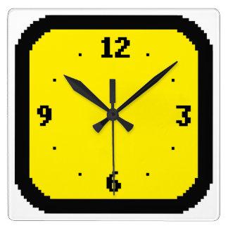 8-bit Pixels Arcade (Any Color) Wall Clock