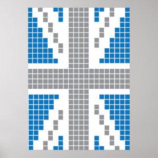 8-bit Pixels Union Jack British(UK) Flag Posters