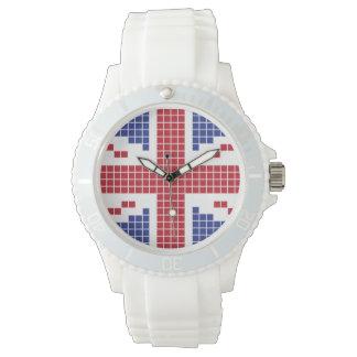 8-bit Pixels Union Jack British(UK) Flag Wristwatch