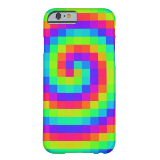 8 bit Rainbow Spiral Barely There iPhone 6 Case