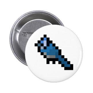 8-Bit Retro Bluejay 6 Cm Round Badge