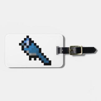 8-Bit Retro Bluejay Luggage Tag
