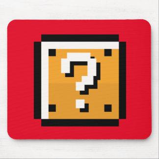 8 bit retro question block mouse pad