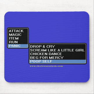 8 Bit RPG Battle Menu Mouse Pad