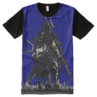 8-Bit Samurai Warrior Nes Style Fantasy Art All-Over Print T-Shirt