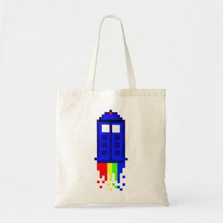 8 Bit Time Travel Budget Tote Bag