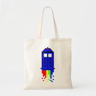 8 Bit Time Travel Tote Bag