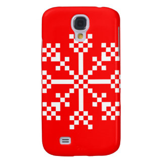 8 bit Video Game Snowflake Galaxy S4 Covers