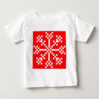 8 bit Video Game Snowflake Tee Shirt