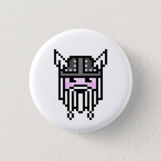 8 Bit Viking 3 Cm Round Badge