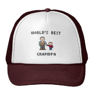 8 Bit World's Best Grandpa Hat
