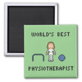 8 Bit World's Best Physiotherapist Magnet