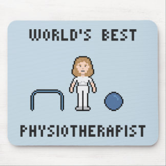 8 Bit World's Best Physiotherapist Mousepad