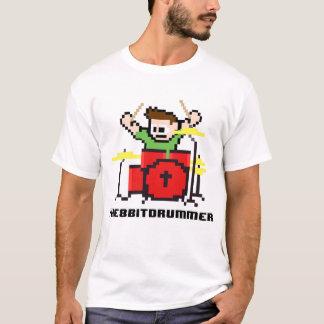8 Bits Battery Bit Drummer Geek T-Shirt