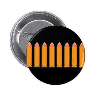8 BULLETS on black background 6 Cm Round Badge