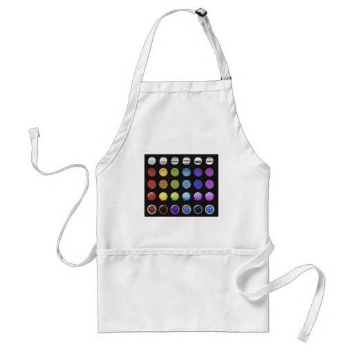 8-ColourfulGlossy Aprons